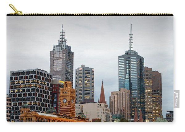 Melbourne City Centre At Dusk Carry-all Pouch