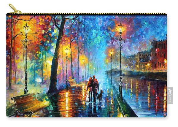 Melody Of The Night - Palette Knife Landscape Oil Painting On Canvas By Leonid Afremov Carry-all Pouch