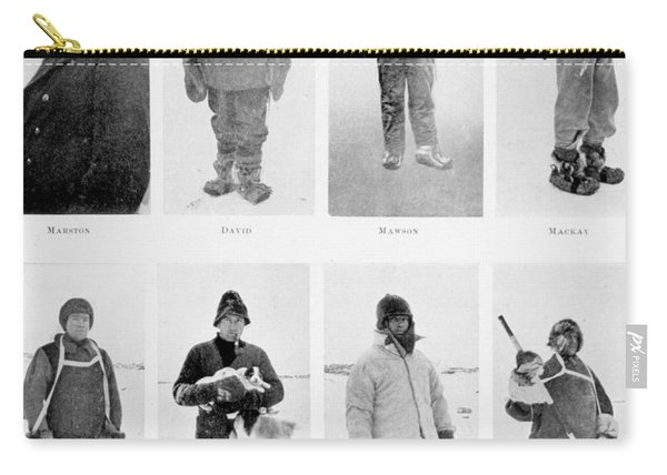 Members Of The British Antarctic Expedition At The Start Of The Journey Carry-all Pouch