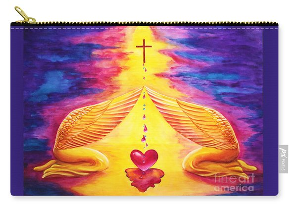 Carry-all Pouch featuring the painting Mercy by Nancy Cupp
