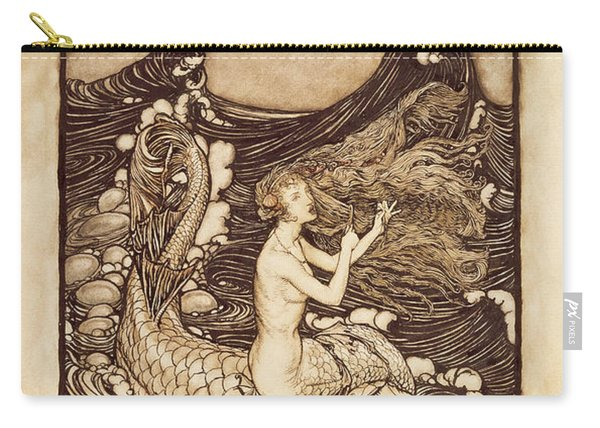 Mermaid And Dolphin From A Midsummer Nights Dream Carry-all Pouch