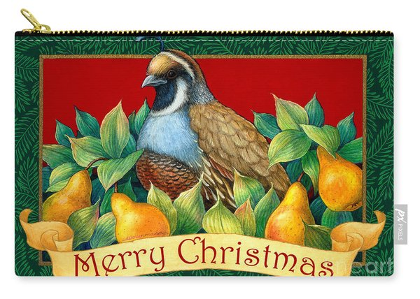 Merry Christmas Partridge Carry-all Pouch