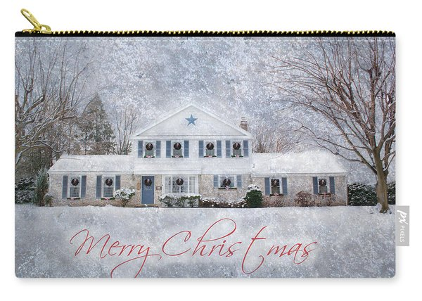 Wintry Holiday - Merry Christmas Carry-all Pouch