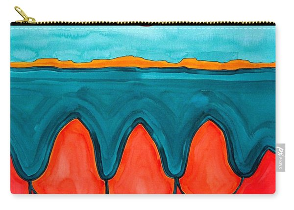 Mesa Canyon Rio Original Painting Carry-all Pouch