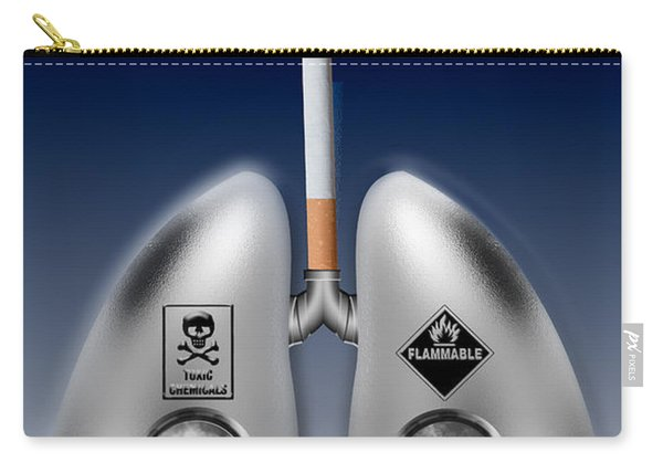 Metal Lungs With Cigarette Smoke Carry-all Pouch