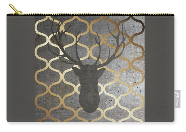 Metallic Deer Nature Carry-all Pouch