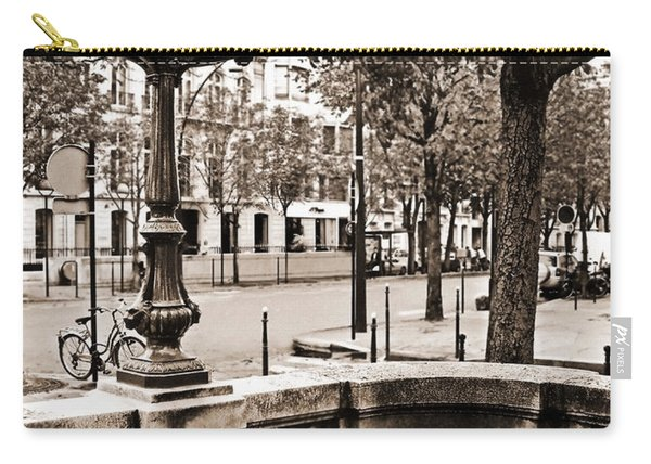 Metro Franklin Roosevelt - Paris - Vintage Sign And Streets Carry-all Pouch