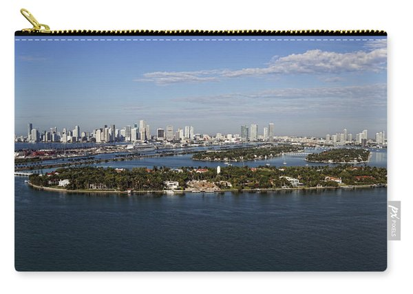 Miami And Star Island Skyline Carry-all Pouch