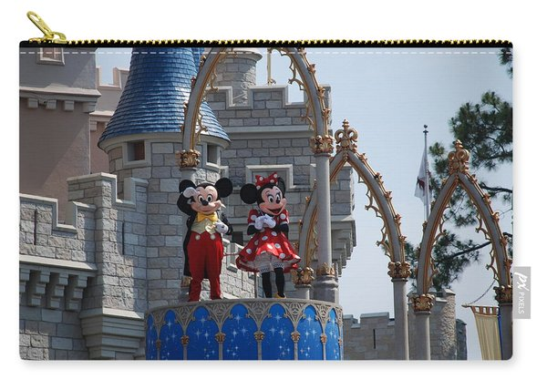 Mickey And Minnie In Living Color Carry-all Pouch