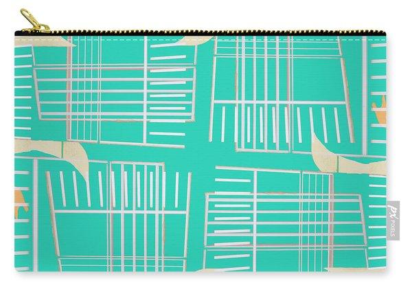 Mid-century Design Aqua Carry-all Pouch