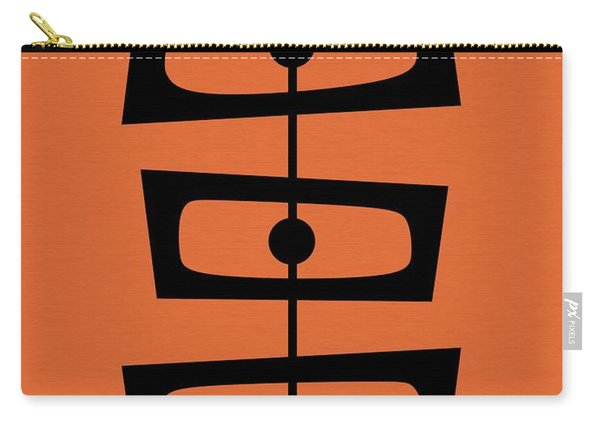 Mid Century Shapes On Orange Carry-all Pouch
