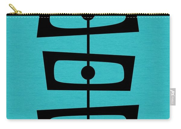 Mid Century Shapes On Turquoise Carry-all Pouch