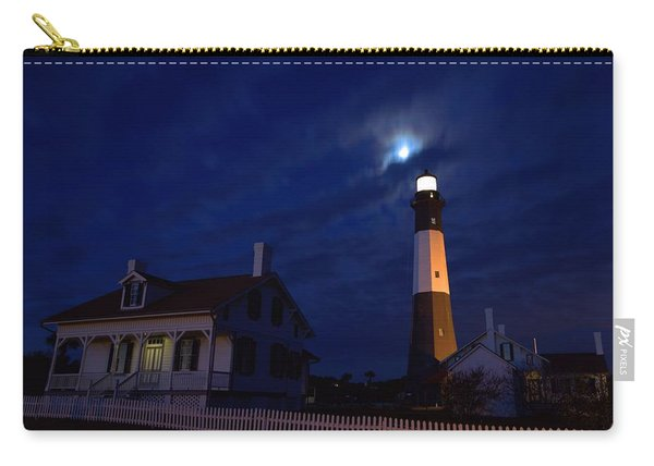 Midnight Moon Over Tybee Island Carry-all Pouch