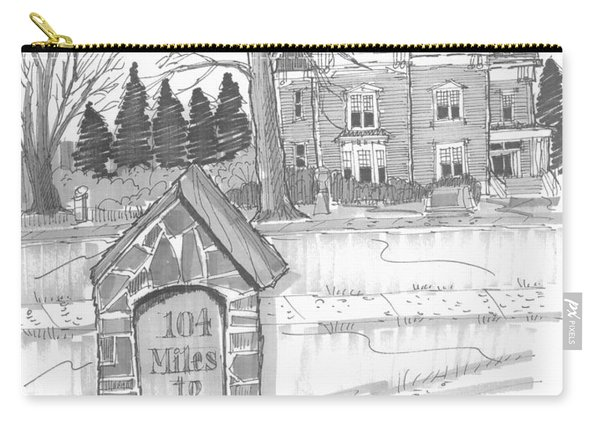 Mile Marker And Victorian Carry-all Pouch