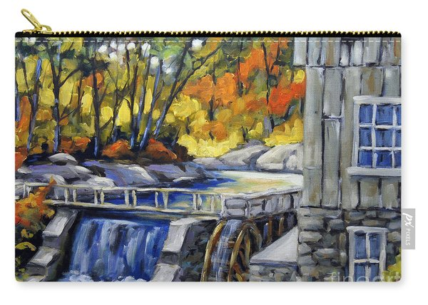 Mill Scene Woods By Prankearts Carry-all Pouch