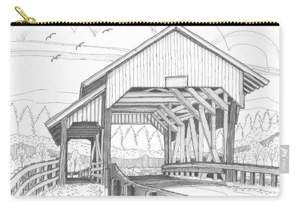 Miller's Run Covered Bridge Carry-all Pouch