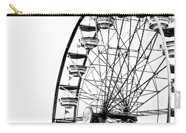 Minimalist Ferris Wheel - Square Carry-all Pouch