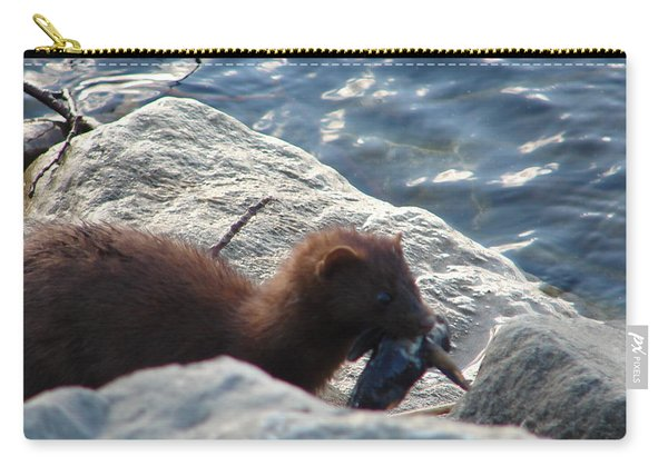 Mink With A Round Goby Carry-all Pouch