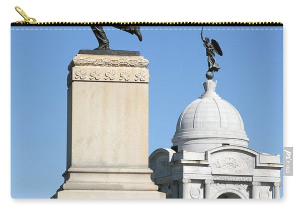 Minnesota And Pennsylvania Monuments At Gettysburg Carry-all Pouch