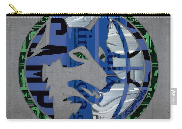 Minnesota Timberwolves Basketball Team Retro Logo Vintage Recycled Minnesota License Plate Art Carry-all Pouch