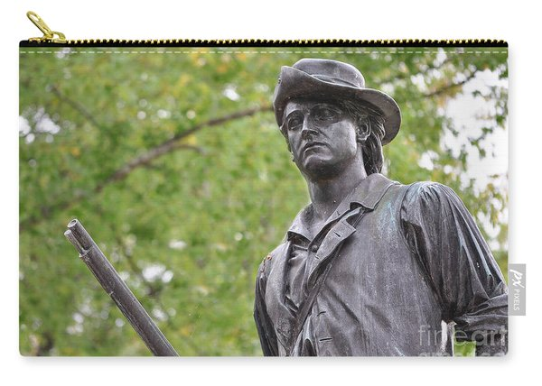 Minute Man Statue In Spring Carry-all Pouch