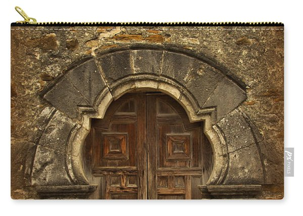 Carry-all Pouch featuring the photograph Mission Espada Doorway by Jemmy Archer