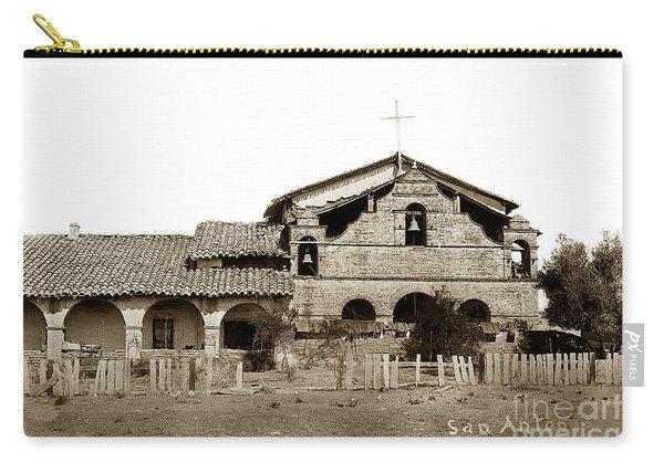 Mission San Antonio De Padua California Circa 1885 Carry-all Pouch