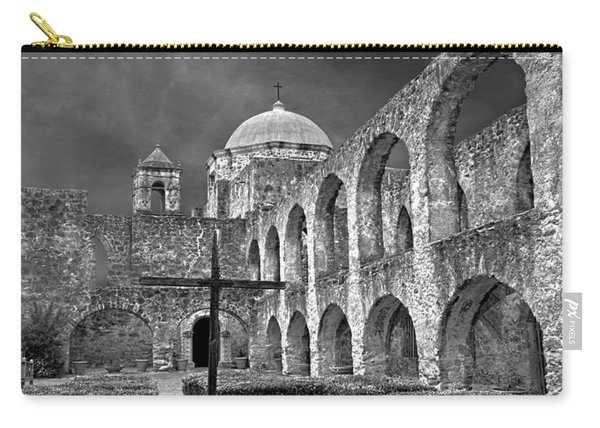 Mission San Jose Arches Bw Carry-all Pouch