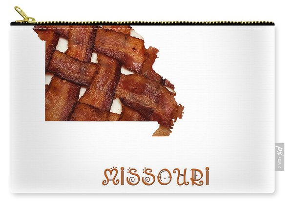 Missouri - Show Me The Bacon - State Map Carry-all Pouch