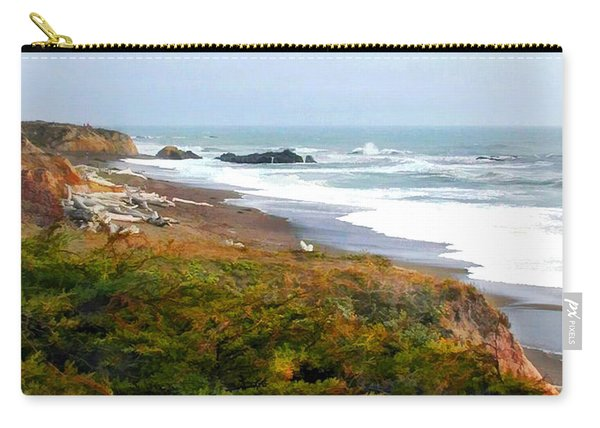 Misty Ocean Shoreline Carry-all Pouch