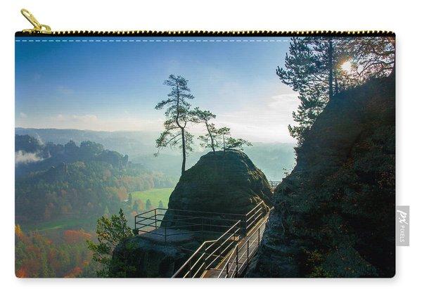 Misty Sunrise On Neurathen Castle Carry-all Pouch