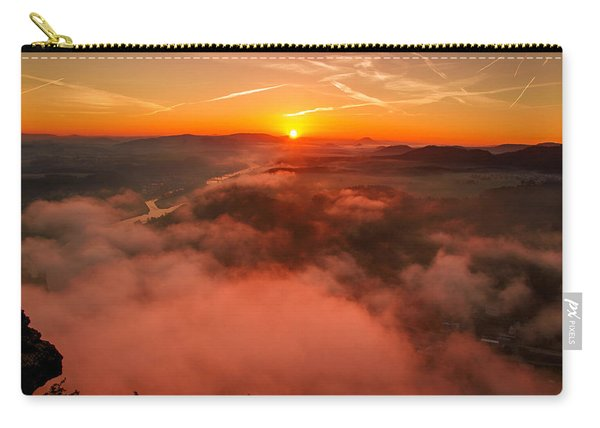 Misty Sunrise On The Lilienstein Carry-all Pouch