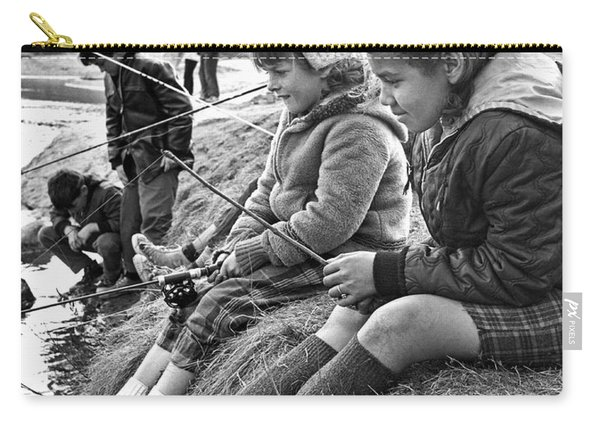 Mixed Ethnic Children Fishing Carry-all Pouch