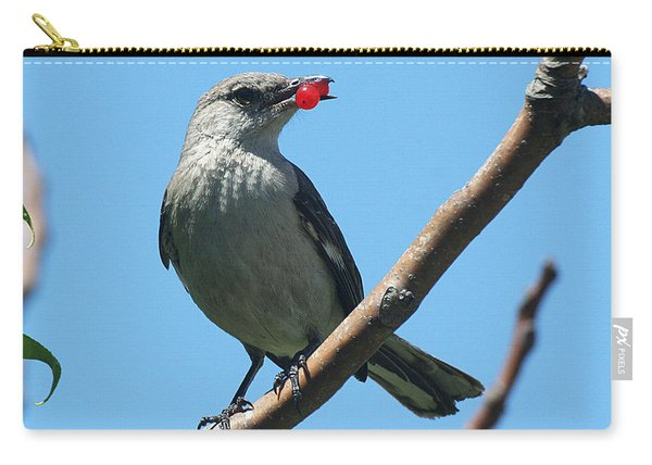 Mockingbird With Berries Carry-all Pouch