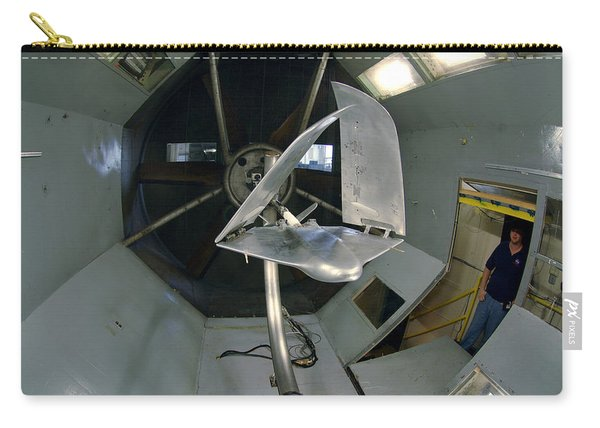 Model Airplane In Wind Tunnel Carry-all Pouch