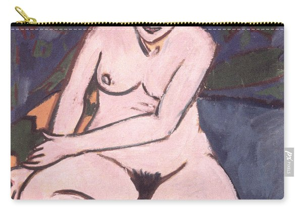 Model On Blue Ground Carry-all Pouch