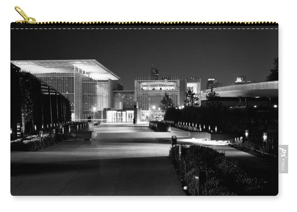 Modern Architecture Night Black White Carry-all Pouch