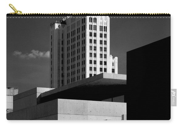 Modern Art Deco Architecture Black White Carry-all Pouch