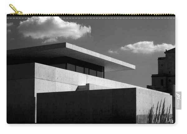 Modern Concrete Architecture Clouds Black White Carry-all Pouch
