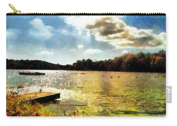 Mohegan Lake Gold Carry-all Pouch