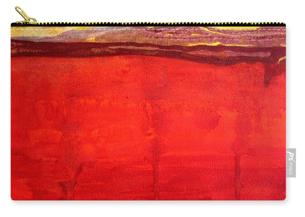 Mojave Dawn Original Painting Carry-all Pouch