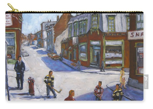 Molasses Town Hockey Rivals In The Streets Of Montreal By Pranke Carry-all Pouch