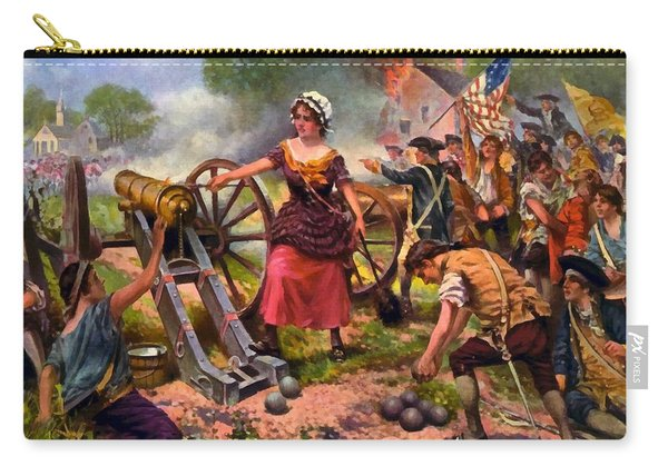 Molly Pitcher Firing Cannon At Battle Of Monmouth Carry-all Pouch