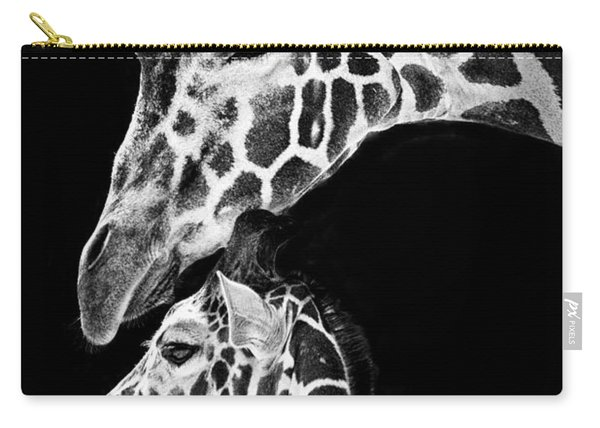 Mom And Baby Giraffe  Carry-all Pouch