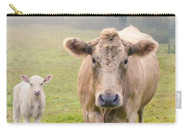Momma And Baby Cow Carry-all Pouch