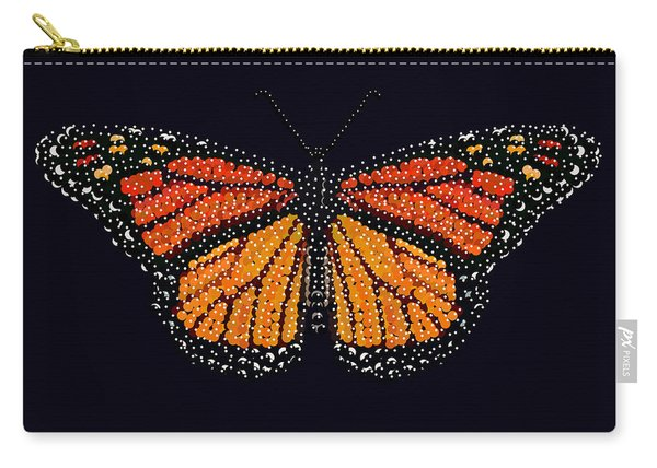 Monarch Butterfly Bedazzled Carry-all Pouch