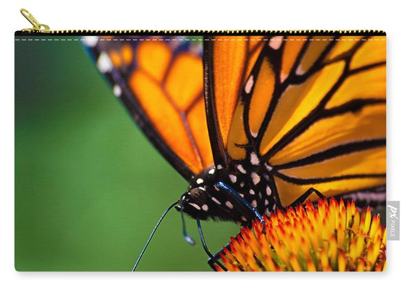 Monarch Butterfly Headshot Carry-all Pouch