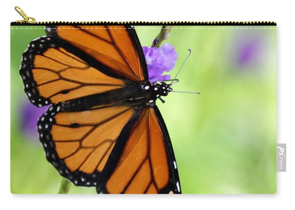 Monarch Butterfly In Spring Carry-all Pouch