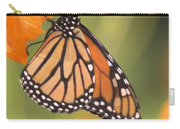Carry-all Pouch featuring the photograph Monarch Butterfly by Richard J Thompson