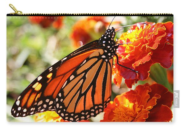 Monarch On Marigold Carry-all Pouch